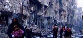 مخيم اليرموك … سيأتي  سيأتي الوفاء .. بالماء والغذاء ..