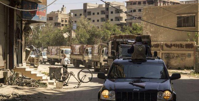 بعد العطاء نهر الوفاء يصب في مخيم اليرموك